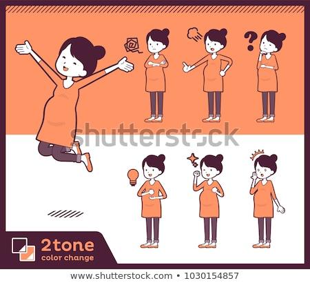 2tone type Pregnant women_set 01 Stock photo © toyotoyo