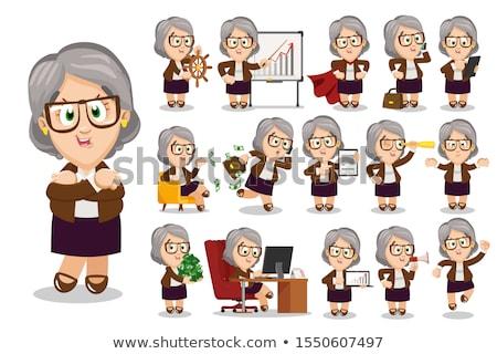 School Principal Flat Cartoon Character Stock photo © Voysla