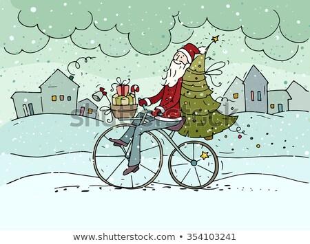 papai · noel · conjunto · feliz · tradicional · natal · isolado - foto stock © toyotoyo