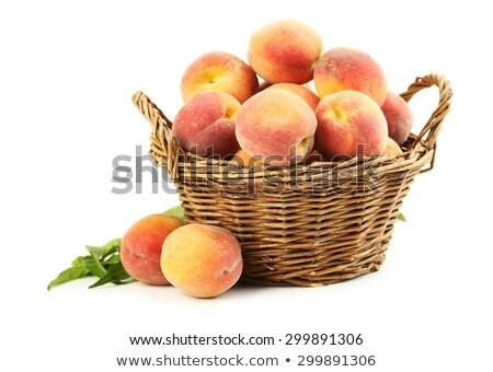 szőlőszüret · őszibarackok · érett · fa · nyár - stock fotó © craig