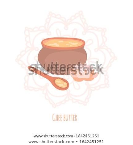 Csésze kávé tál tej reggeli tábla Stock fotó © Alex9500