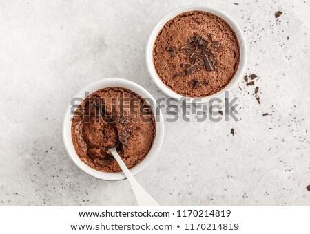 Vegan csokoládé hab csokoládé háttér desszert friss Stock fotó © M-studio