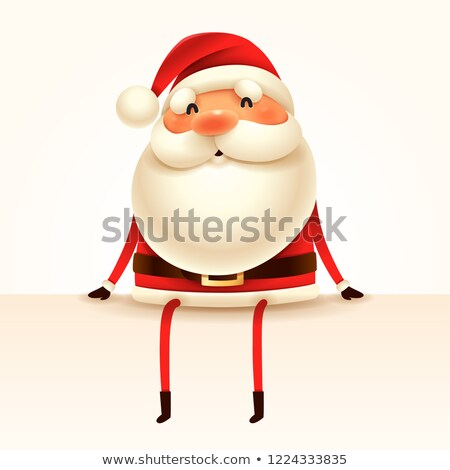 Santa Claus sits at the edge. Isolated. Stock photo © ori-artiste