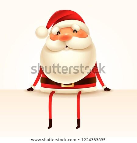 mikulás · perem · izolált · retro · karácsony · ünnep - stock fotó © ori-artiste