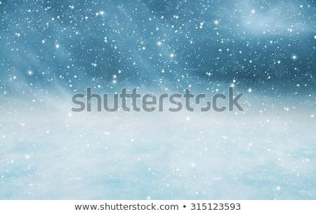 karácsony · keret · kicsi · kék · hópelyhek · sarkok - stock fotó © romvo