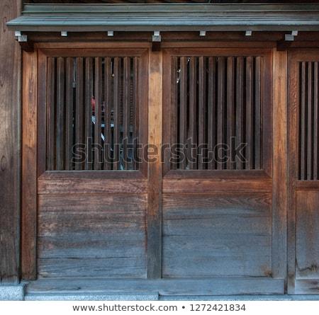 Medievale stile legno porta illustrazione legno Foto d'archivio © colematt
