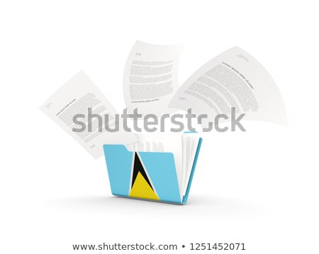 Folder with flag of saint lucia Stock photo © MikhailMishchenko