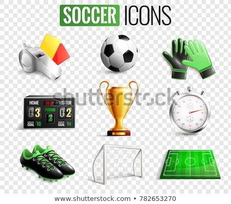 Futball szett futball felszerlés gyűjtemény mező Stock fotó © Andrei_