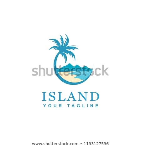 beach island vector logo icon sign stock photo © blaskorizov