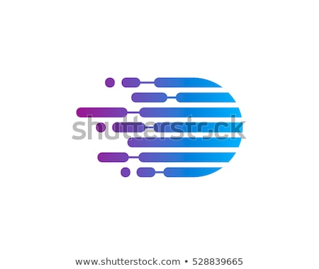colorful vector hexagon business tech vector logo icon stock photo © blaskorizov
