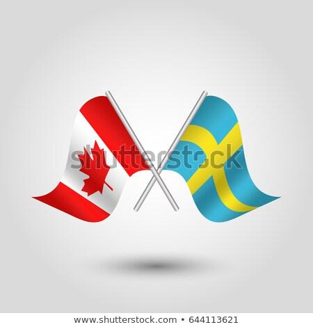 2 フラグ カナダ スウェーデン 孤立した ストックフォト © MikhailMishchenko