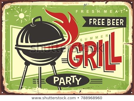 barbecue · voedsel · geïsoleerd · ingesteld · verschillend - stockfoto © netkov1