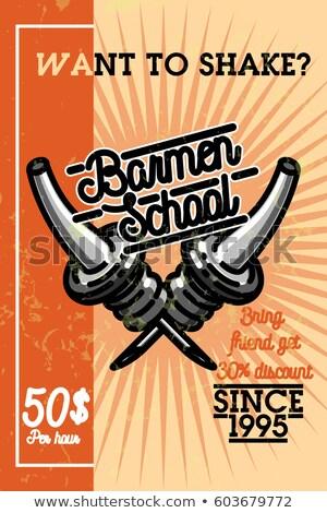 Couleur vintage école bannière eps 10 Photo stock © netkov1