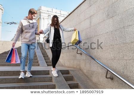 vásárlás · nő · bolt · hölgyek · butik · vektor - stock fotó © smeagorl