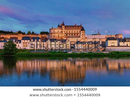 Amboise over Loire river, France Stock photo © neirfy