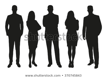 business people silhouette set vector man woman group outline person shape professional team f stock photo © pikepicture