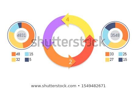 lépcső · diagram · sablon · munkafolyamat · üzlet · séma - stock fotó © robuart