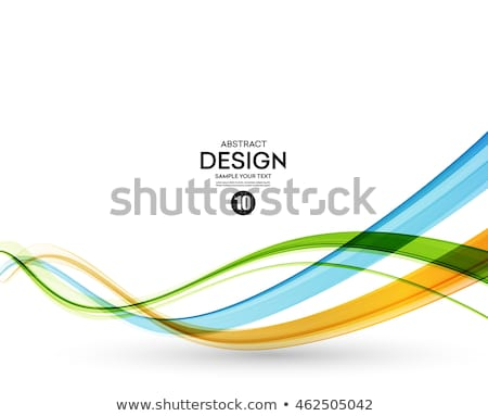 Abstract vector background, blue waved lines for brochure, websi Stock photo © kyryloff