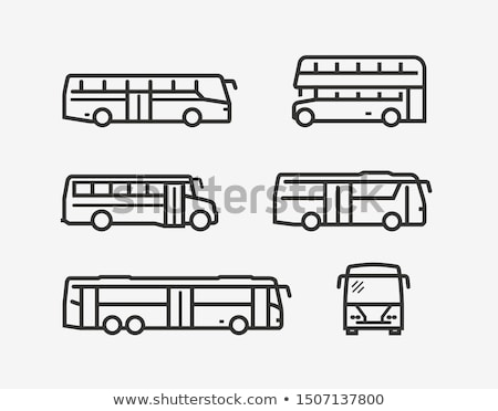 Bus icons set ストックフォト © netkov1
