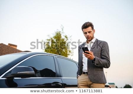 肖像 豊富な ビジネスマン 着用 スーツ 立って ストックフォト © deandrobot