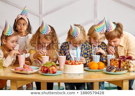 Verde ropa gafas fiesta establecer nino Foto stock © toyotoyo