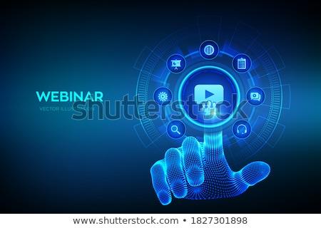 Online workshop concept vector illustration Stock photo © RAStudio