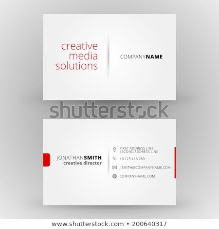 Rood moderne visitekaartje ontwerpsjabloon kantoor corporate Stockfoto © SArts