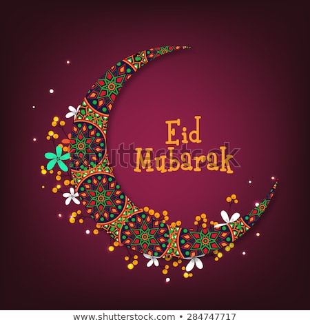 stylish islamic decoration for eid mubarak festival Stock photo © SArts