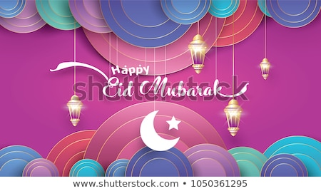 eid festival sale banner with moon and mosque Stock photo © SArts