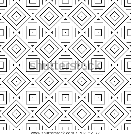 abstract square frame with layered lines triangular grid and sha stock photo © swillskill