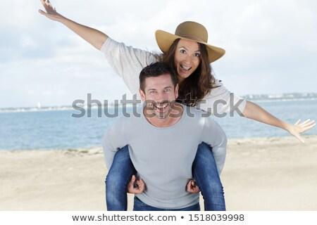Casal de volta praia composição digital Foto stock © wavebreak_media