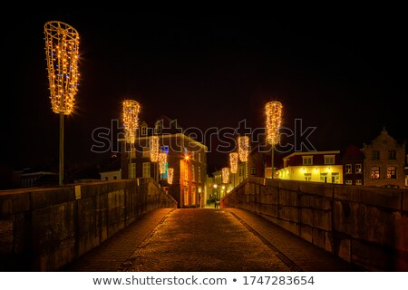 Straat Nederland kathedraal gebouw zomer Stockfoto © borisb17