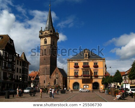 Kapellturm tower in Obernai, Alsace, France Stock photo © borisb17