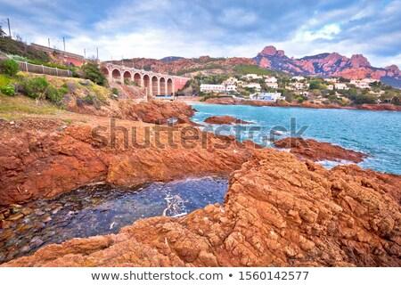 Antheor, Saint Raphael. Franch riviera scenic coastline view, Stock photo © xbrchx