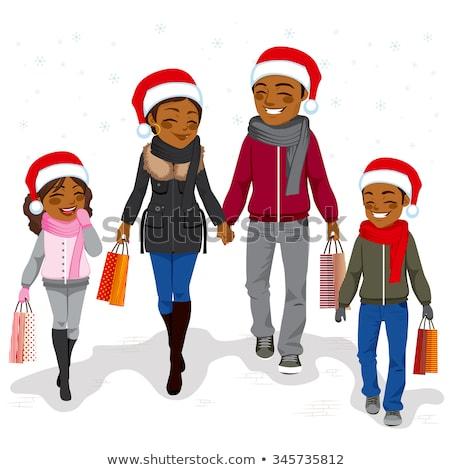 Mujer regalo Navidad invierno vacaciones Foto stock © robuart