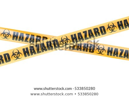 Yellow biohazard sign with BIOHAZARD text Stock photo © alessandro0770