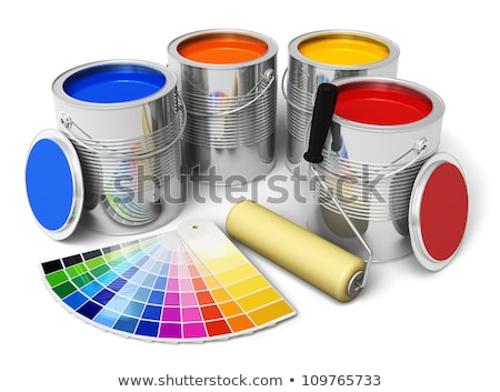 CMYK color paint roller brush 3D Stock photo © djmilic