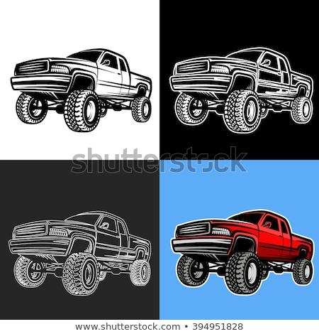 Vector Cartoon 4x4 pickup isolated Stock photo © mechanik