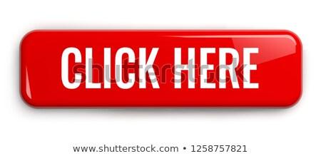 Rojo botón texto haga clic aquí blanco aislado Foto stock © ISerg