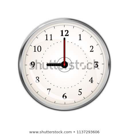 Realistic clock face showing 09-00 on white Stock photo © evgeny89