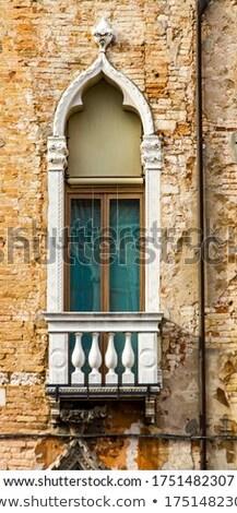 Traditioneel weduwe gebouw Venetië Italië oude Stockfoto © boggy