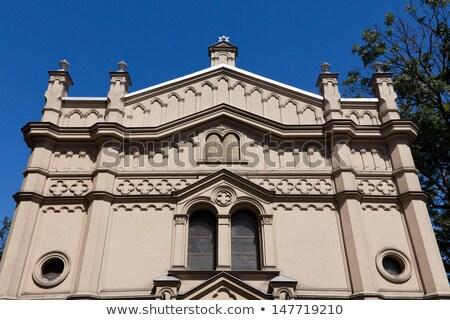 синагога Краков Польша район небе город Сток-фото © borisb17