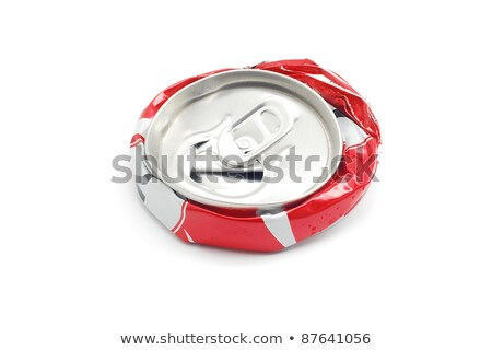 Smashed can on white background Stock photo © carenas1