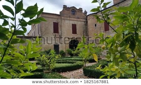 fontein · kasteel · milaan · Italië · gebouw · stad - stockfoto © aladin66