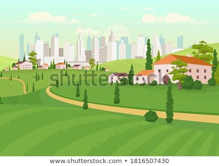 Städtischen Tageszeit Business Himmel Büro Wasser Stock foto © cozyta
