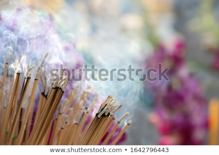 Cerimonia incenso brucia giallo fumare sfondo Foto d'archivio © smithore