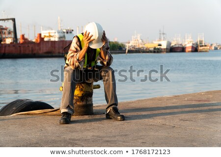 Worried construction worker Stock photo © photography33