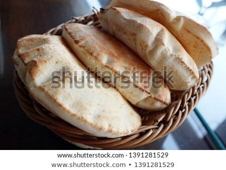 lebanese bread,pita Stock photo © M-studio