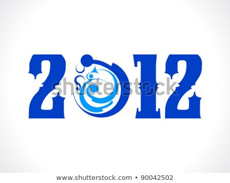 abstract tribal based new year text Stock photo © pathakdesigner