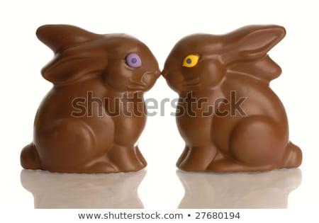 Stok fotoğraf: çikolata · Paskalya · öpüşme · fotoğraf · iki · bir